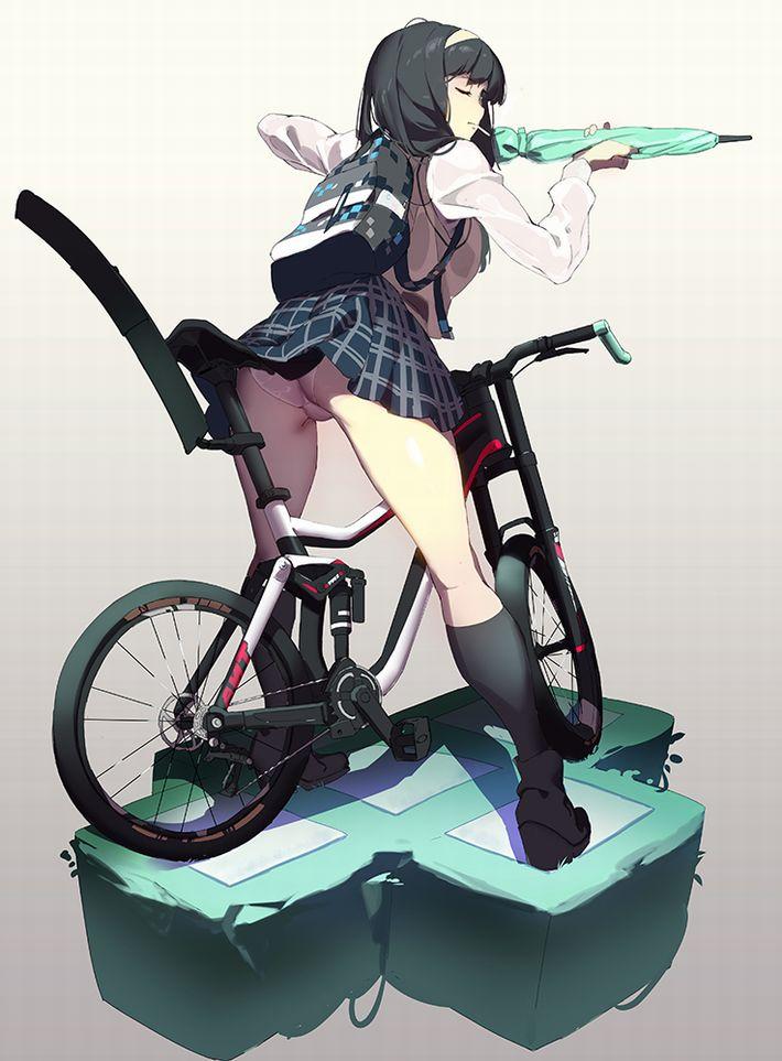 二次元 2次元 エロ画像 自転車 べっぴん娘通信 19