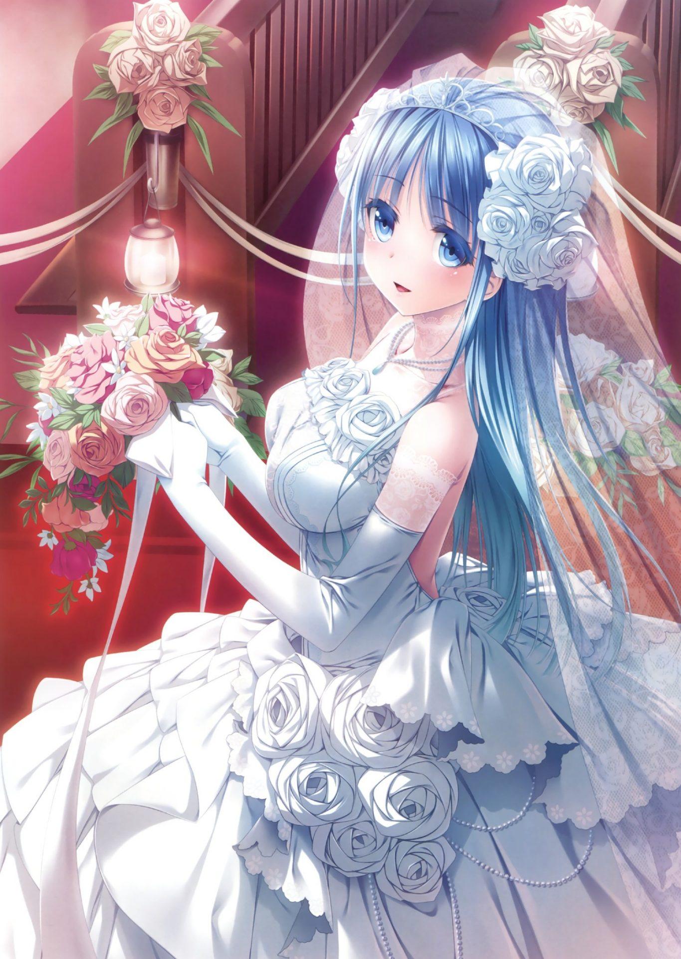 二次元 2次元 エロ画像 ウェディングドレス べっぴん娘通信 37