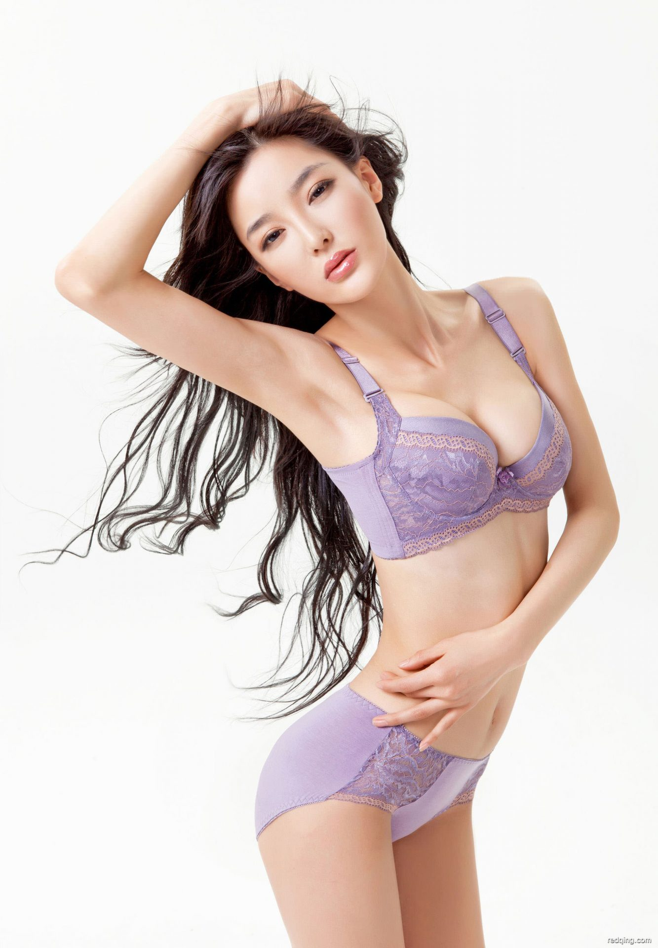 三次元 3次元 エロ画像 紫 ランジェリー 下着 べっぴん娘通信 19