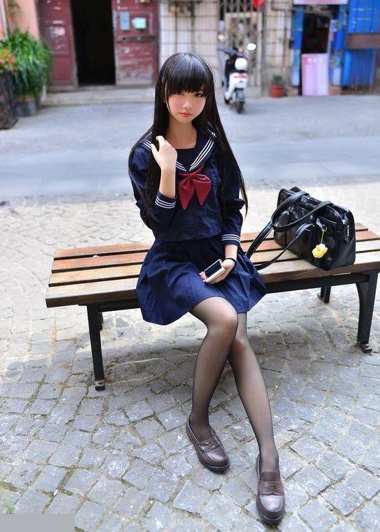 三次元 3次元 エロ画像 セーラー服 黒パンスト ストッキング べっぴん娘通信 08