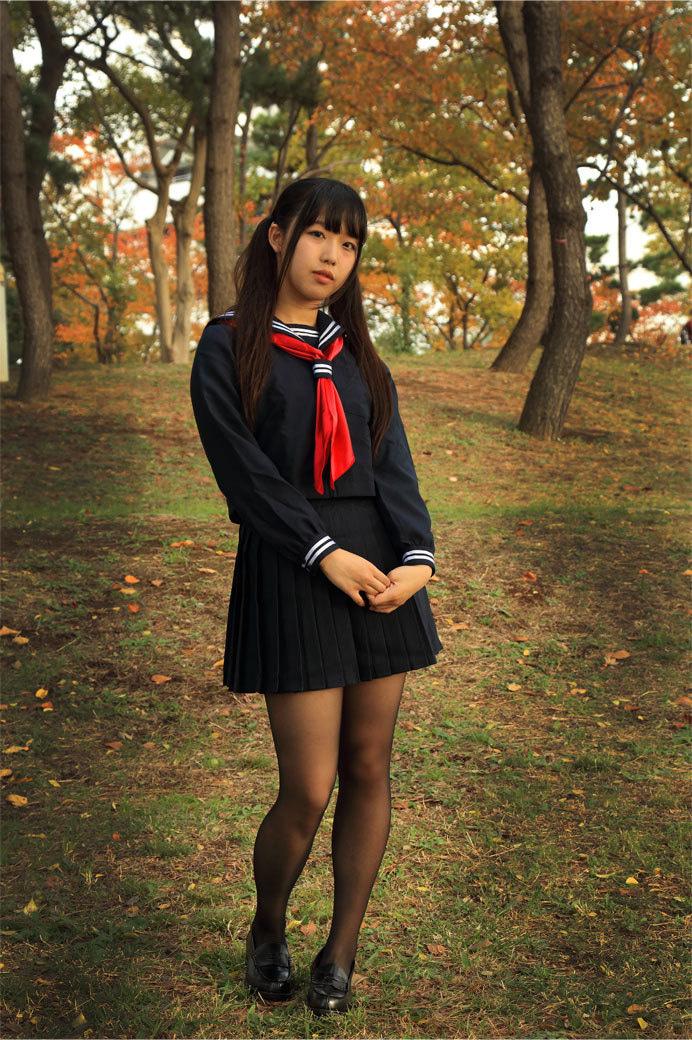三次元 3次元 エロ画像 JK 女子校生 制服 黒パンスト べっぴん娘通信 31