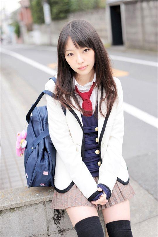 三次元 3次元 エロ画像  JK 女子校生 ニーソックス べっぴん娘通信 02