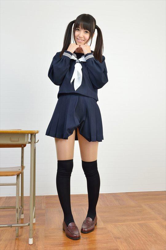 三次元 3次元 エロ画像  JK 女子校生 ニーソックス べっぴん娘通信 06
