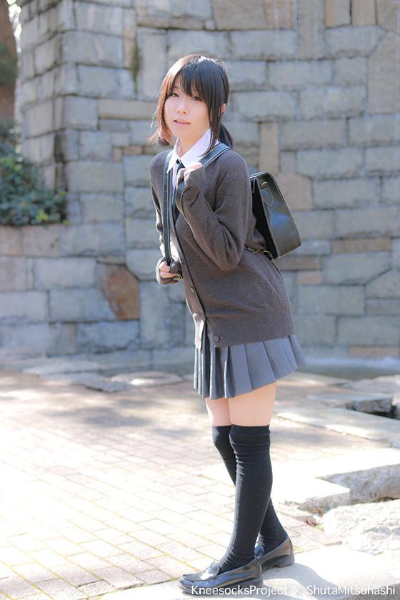 三次元 3次元 エロ画像  JK 女子校生 ニーソックス べっぴん娘通信 12