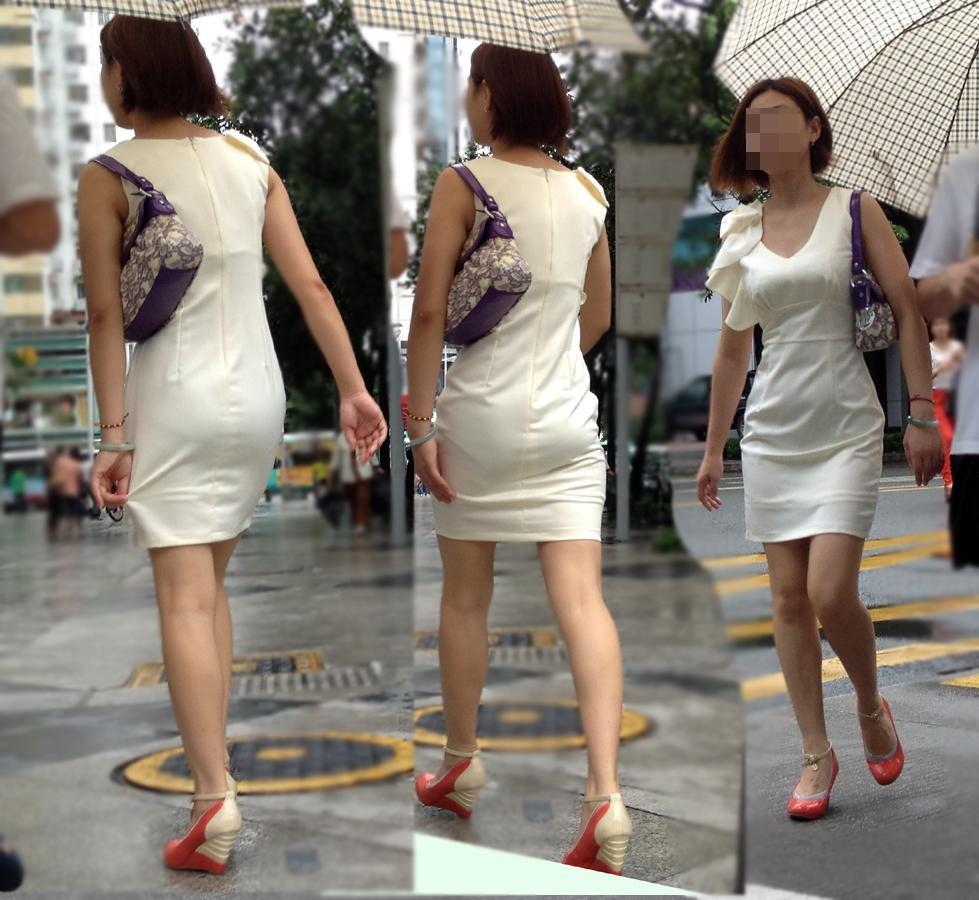 三次元 3次元 エロ画像 美脚 街撮り ワンピース 素人 べっぴん娘通信 13
