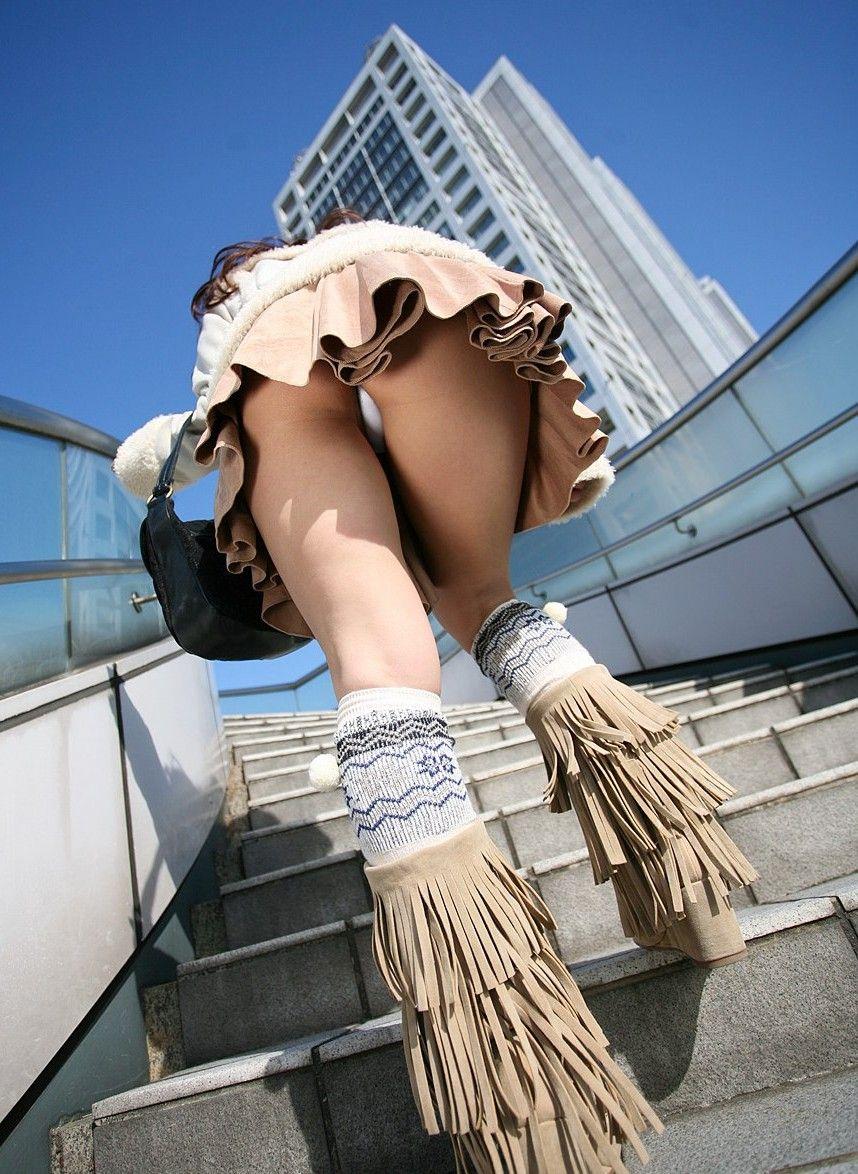 三次元 3次元 エロ画像 パンチラ 階段 べっぴん娘通信 09