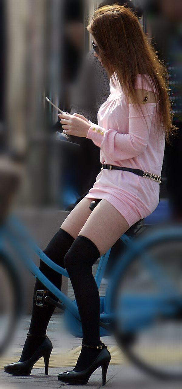 三次元 3次元 エロ画像 街撮り ニーソックス べっぴん娘通信 35