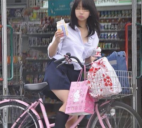 三次元 3次元 エロ画像 街撮り 素人 女子校生 JK 自転車 べっぴん娘通信 01