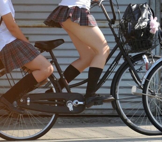 三次元 3次元 エロ画像 街撮り 素人 女子校生 JK 自転車 べっぴん娘通信 05