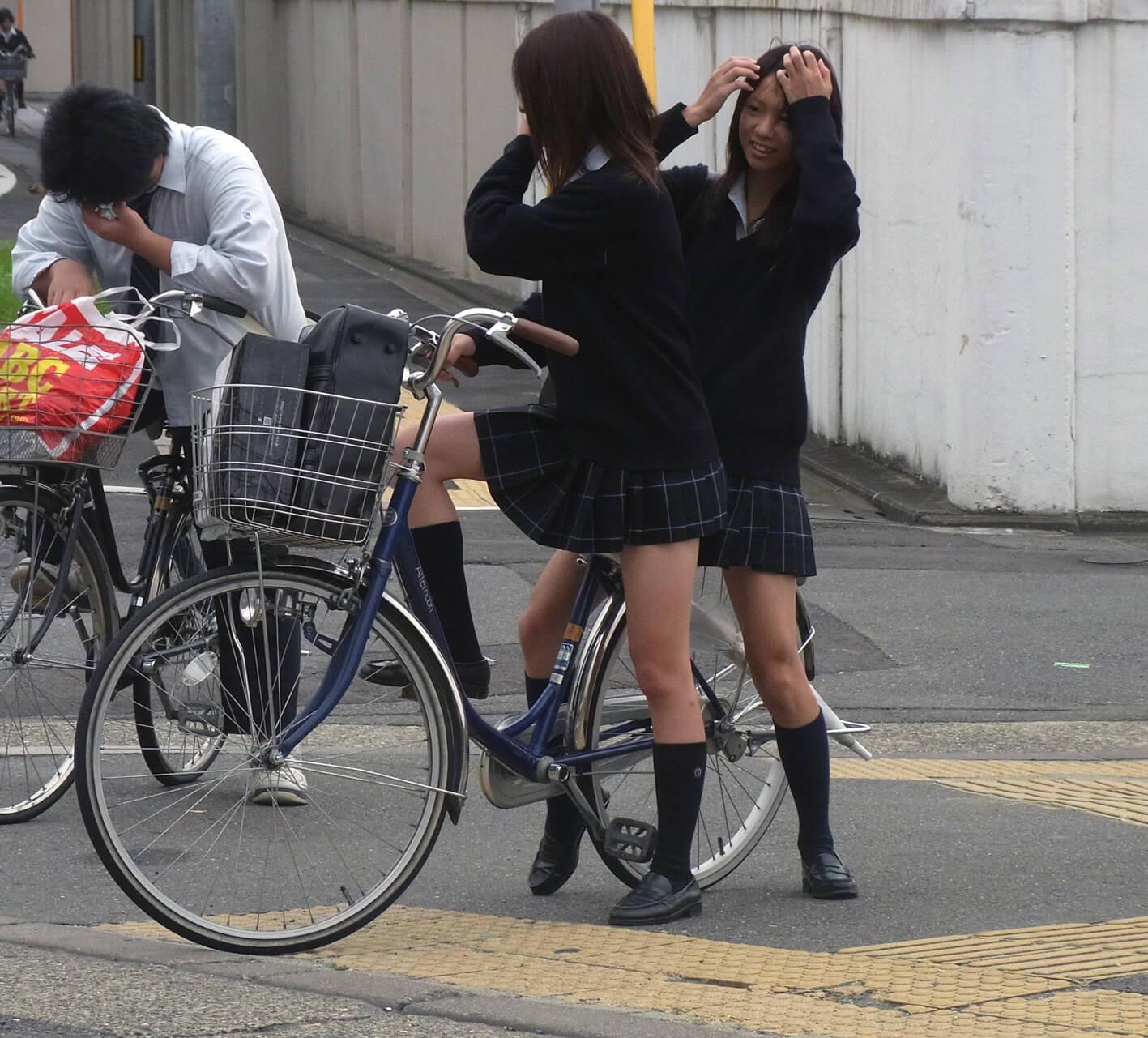 三次元 3次元 エロ画像 街撮り 素人 女子校生 JK 自転車 べっぴん娘通信 10