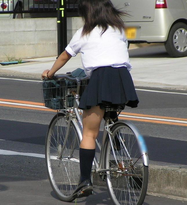 三次元 3次元 エロ画像 街撮り 素人 女子校生 JK 自転車 べっぴん娘通信 15