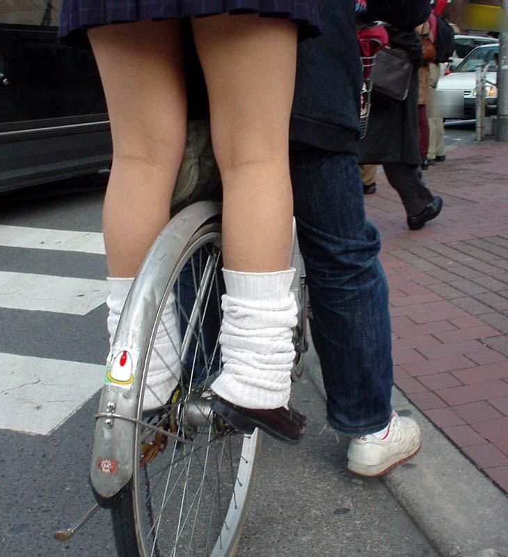 三次元 3次元 エロ画像 街撮り 素人 女子校生 JK 自転車 べっぴん娘通信 16