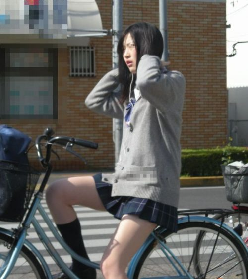 三次元 3次元 エロ画像 街撮り 素人 女子校生 JK 自転車 べっぴん娘通信 20