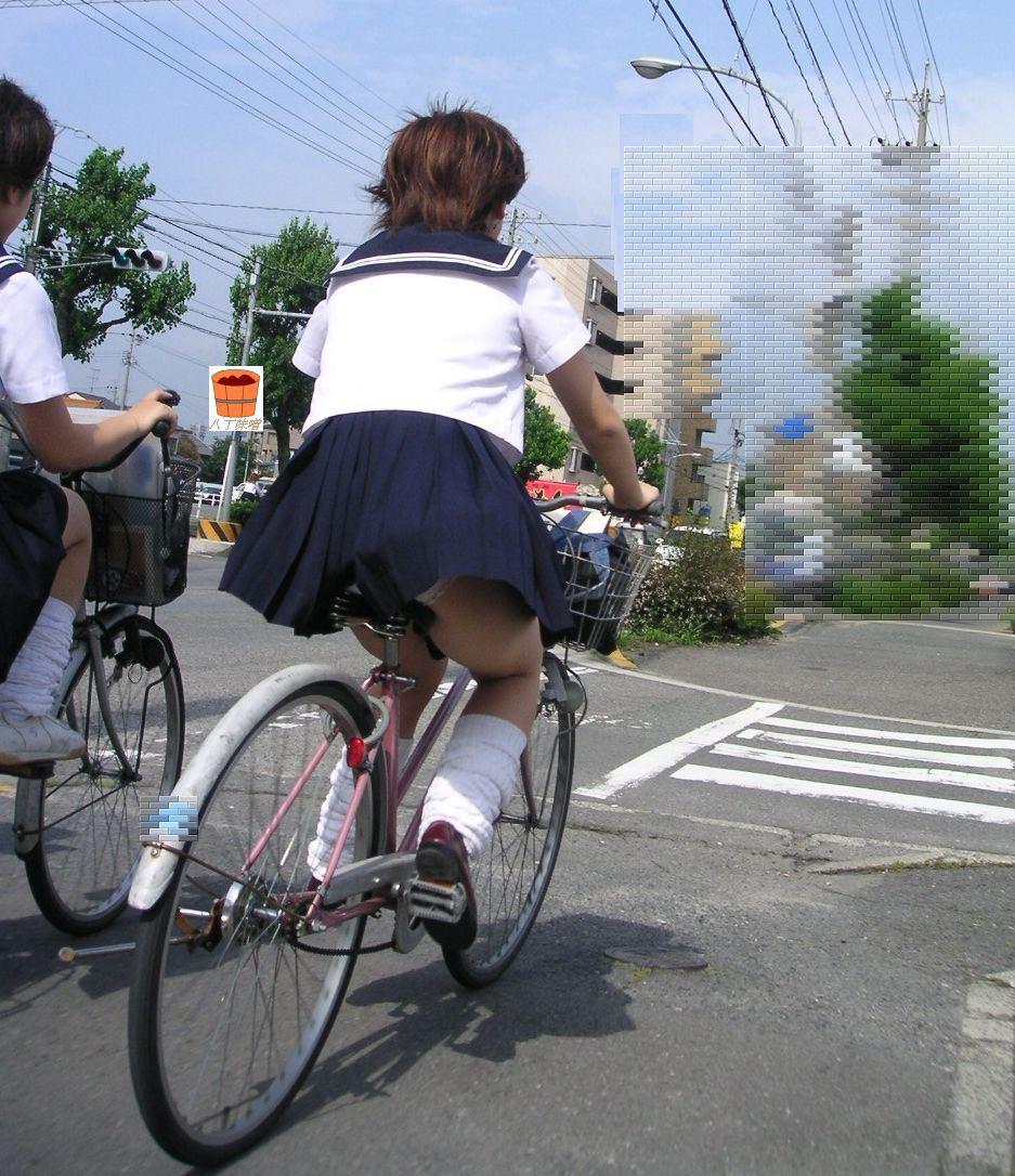 三次元 3次元 エロ画像 街撮り 素人 女子校生 JK 自転車 べっぴん娘通信 22