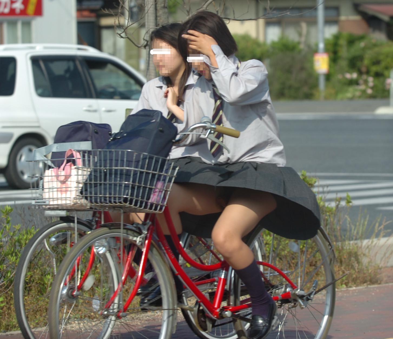 三次元 3次元 エロ画像 街撮り 素人 女子校生 JK 自転車 べっぴん娘通信 23