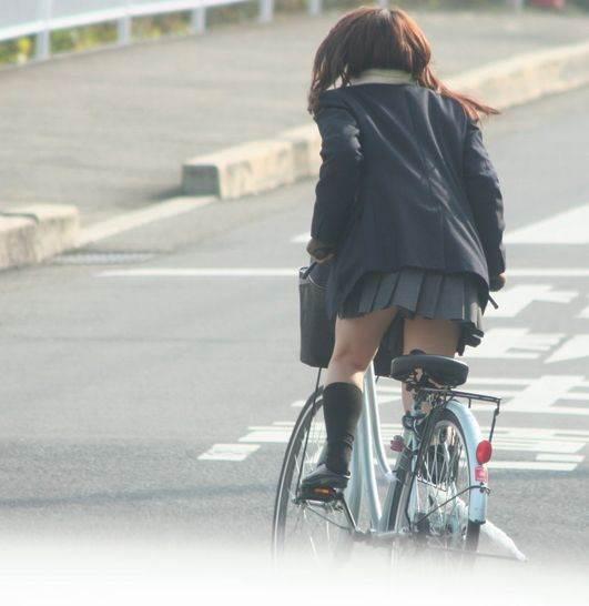 三次元 3次元 エロ画像 街撮り 素人 女子校生 JK 自転車 べっぴん娘通信 25