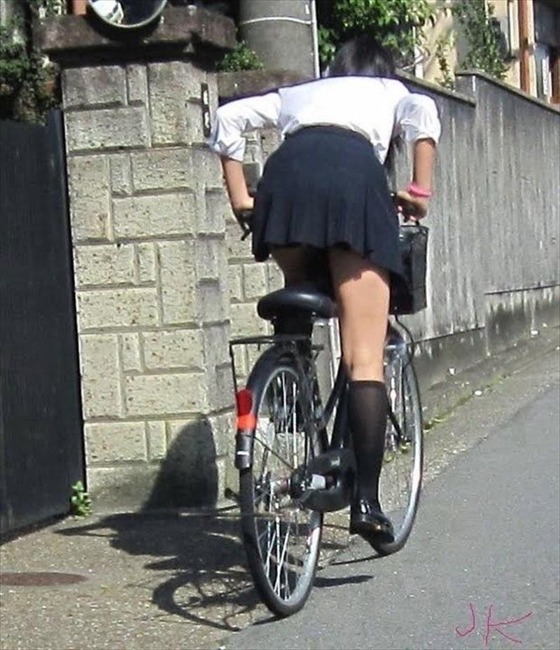 三次元 3次元 エロ画像 街撮り 素人 女子校生 JK 自転車 べっぴん娘通信 26