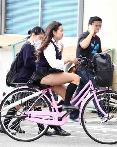 三次元 3次元 エロ画像 街撮り 素人 女子校生 JK 自転車 べっぴん娘通信 29