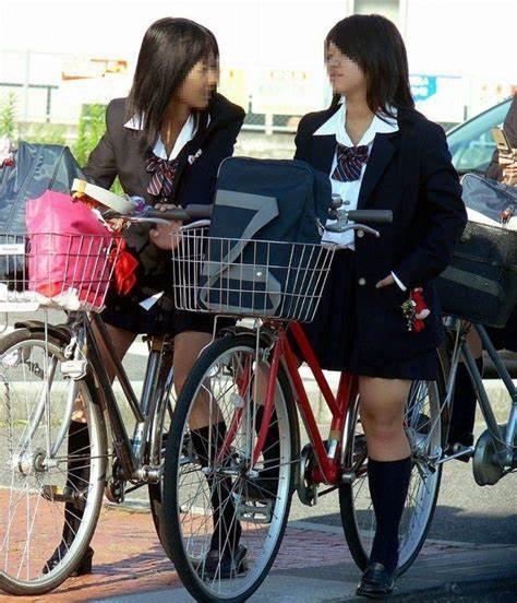 三次元 3次元 エロ画像 街撮り 素人 女子校生 JK 自転車 べっぴん娘通信 36