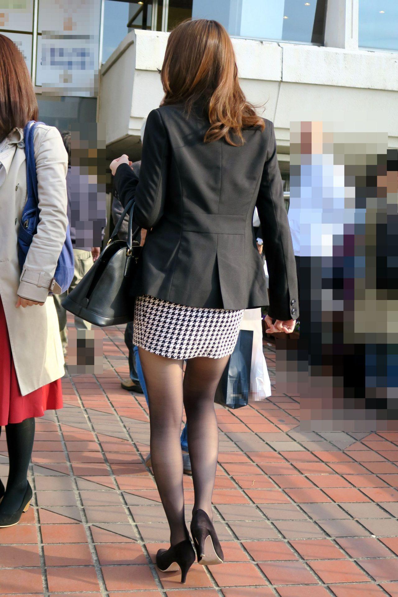 三次元 3次元 エロ画像 黒パンスト 街撮り 素人 美脚  べっぴん娘通信 10