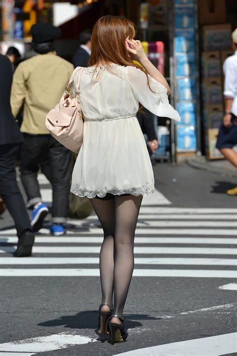 三次元 3次元 エロ画像 黒パンスト 街撮り 素人 美脚  べっぴん娘通信 20