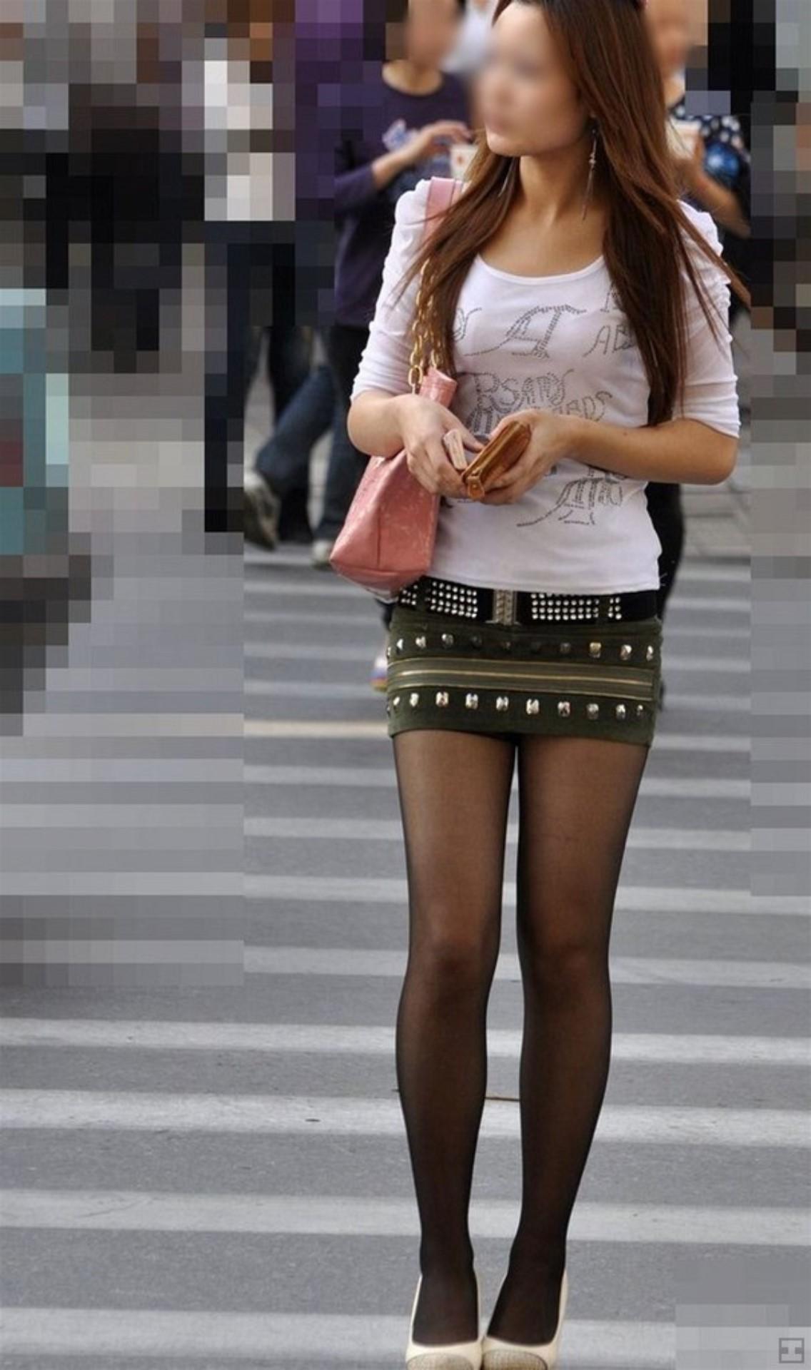 三次元 3次元 エロ画像 黒パンスト 街撮り 素人 美脚  べっぴん娘通信 31