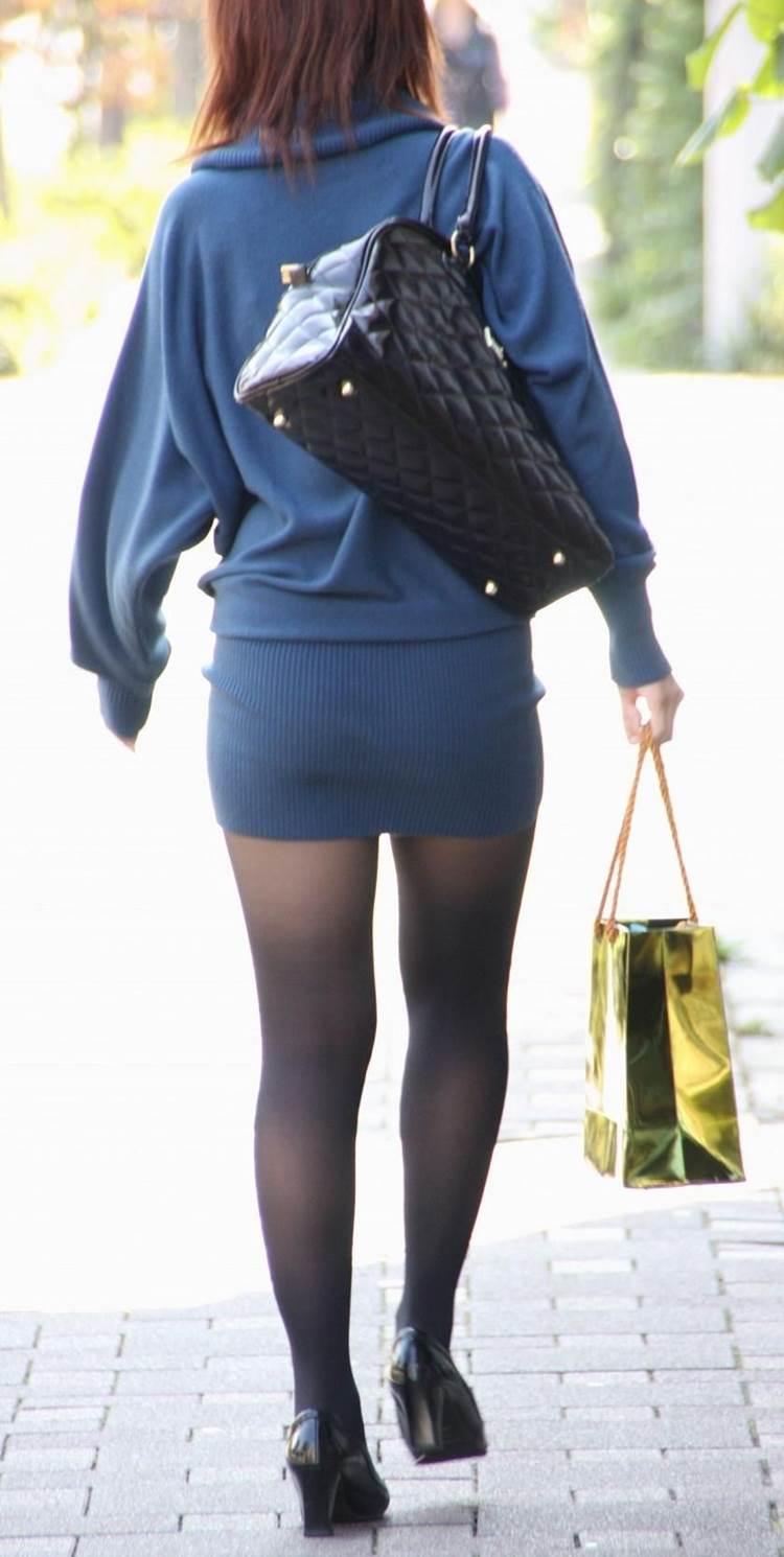 三次元 3次元 エロ画像 黒パンスト 街撮り 素人 美脚  べっぴん娘通信 39