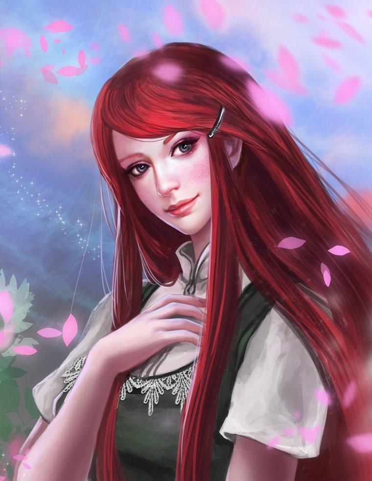 二次元 2次元 エロ画像 赤髪 べっぴん娘通信 02