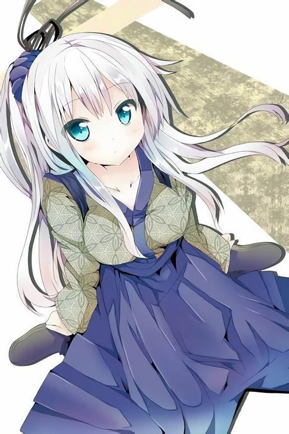 二次元 2次元 エロ画像 白髪 銀髪 美少女 べっぴん娘通信 37