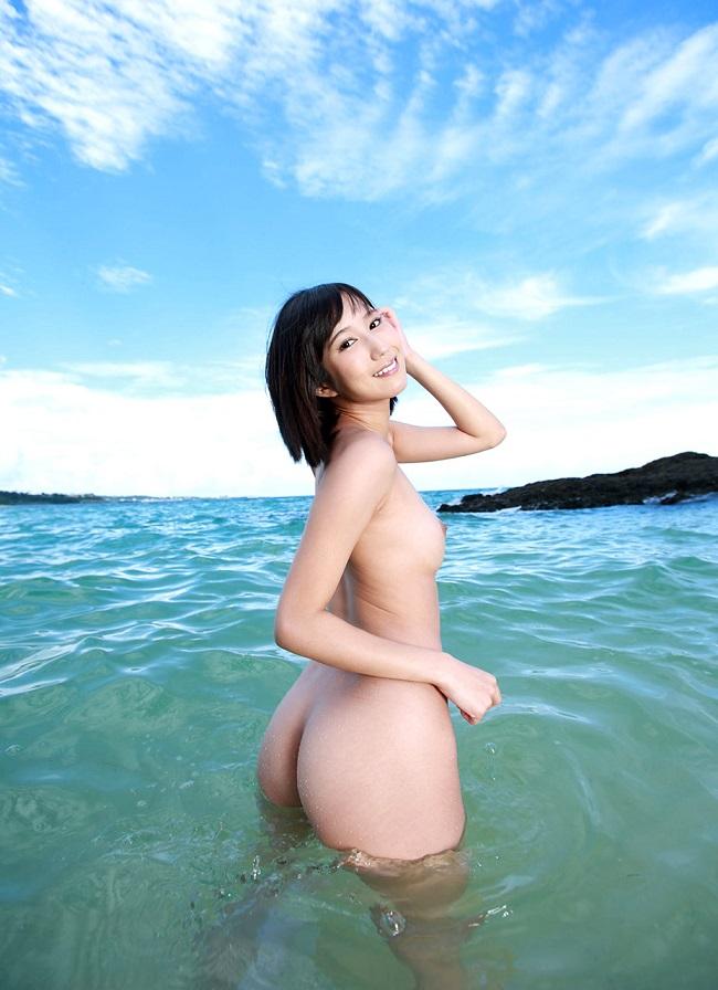 三次元 3次元 エロ画像 ビーチ ヌード 裸 べっぴん娘通信 23