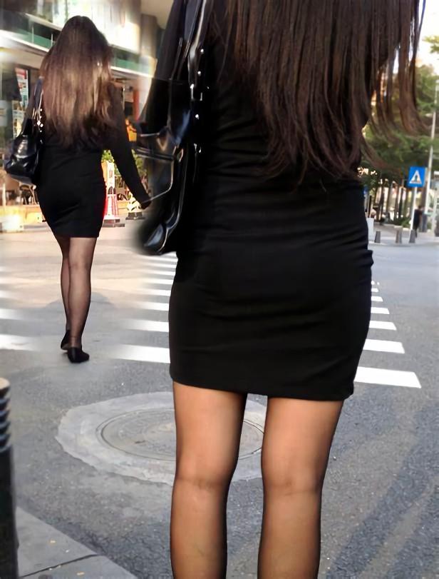 三次元 3次元 エロ画像 黒パンスト 街撮り 素人 美脚 べっぴん娘通信 28