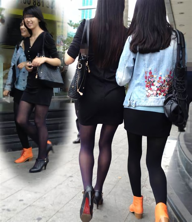 三次元 3次元 エロ画像 黒パンスト 街撮り 素人 美脚 べっぴん娘通信 30