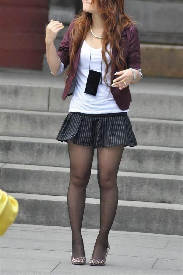 三次元 3次元 エロ画像 黒パンスト 街撮り 素人 美脚 べっぴん娘通信 32
