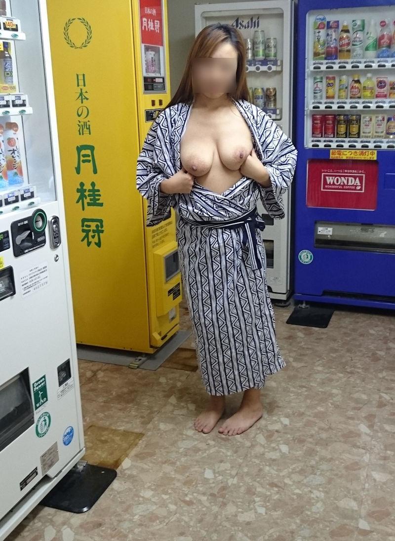 三次元 3次元 エロ画像 浴衣 和装 野外 屋外 露出 羞恥 べっぴん娘通信 17