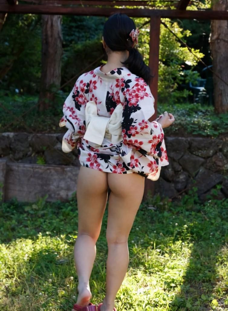 三次元 3次元 エロ画像 浴衣 和装 野外 屋外 露出 羞恥 べっぴん娘通信 37