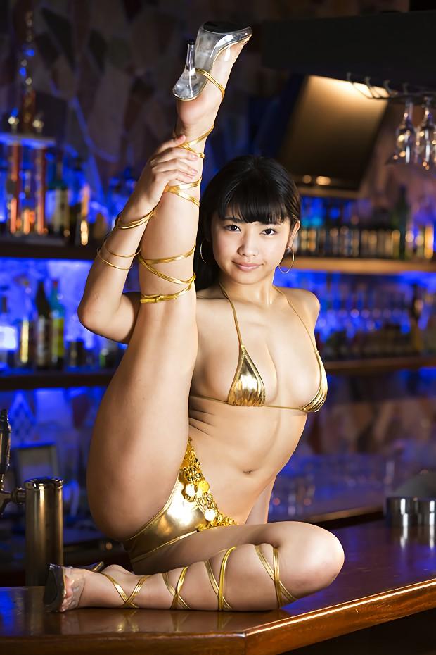三次元 3次元 エロ画像 ビキニ 金色 水着 べっぴん娘通信 03