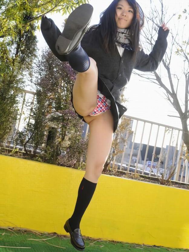 三次元 3次元 エロ画像 女子校生 パンチラ JK 制服 べっぴん娘通信 20