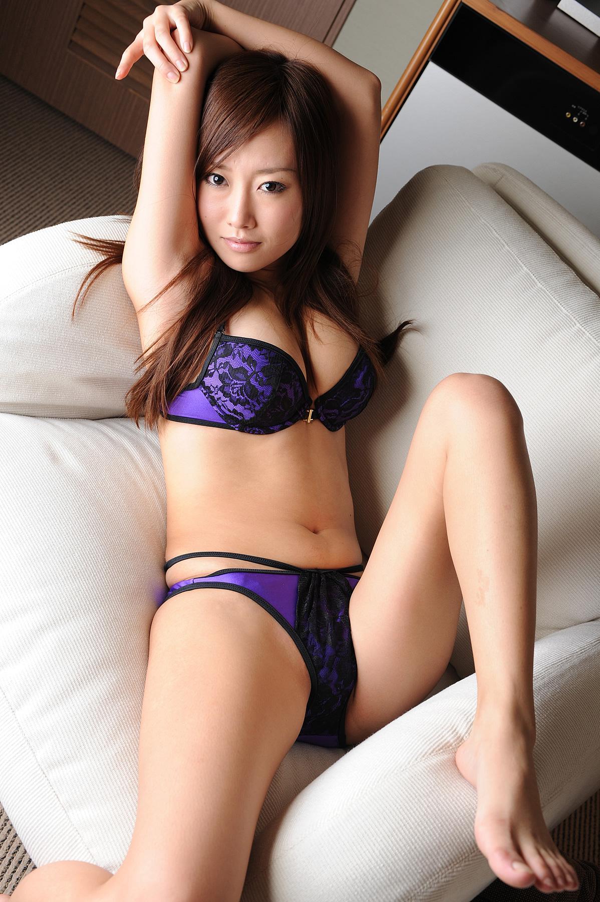 三次元 3次元 エロ画像 ランジェリー 紫 下着 べっぴん娘通信 06