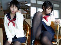 三次元 3次元 エロ画像 セーラー服 制服 JK 女子校生 パンスト ストッキング べっぴん娘通信 01