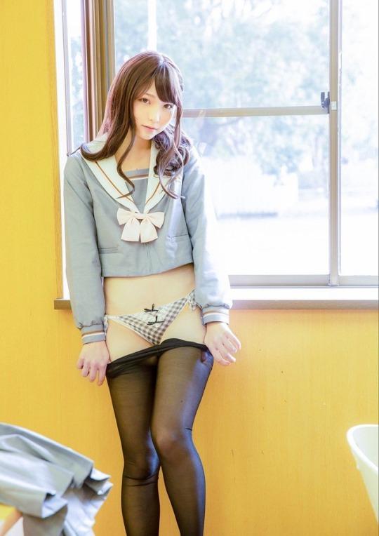 三次元 3次元 エロ画像 セーラー服 制服 JK 女子校生 パンスト ストッキング べっぴん娘通信 31