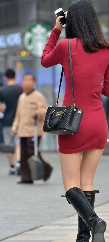 三次元 3次元 エロ画像 街撮り ブーツ 素人 美脚 街角 べっぴん娘通信 02