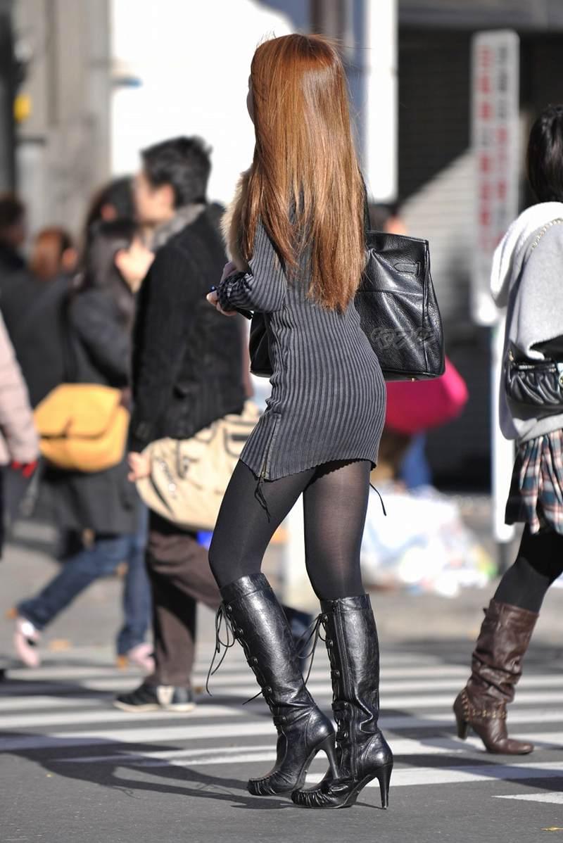 三次元 3次元 エロ画像 街撮り ブーツ 素人 美脚 街角 べっぴん娘通信 06