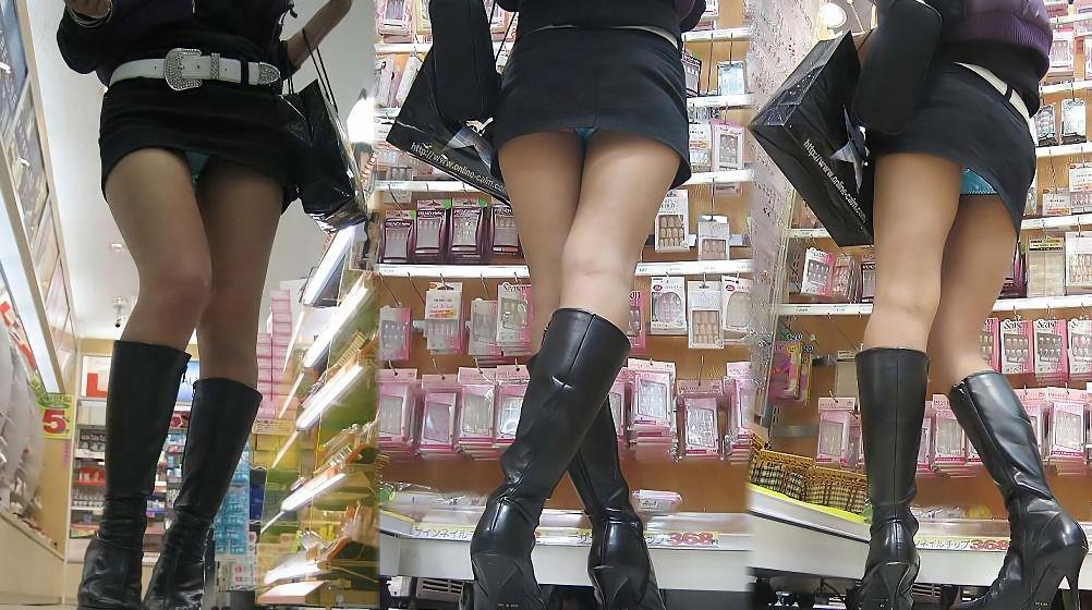三次元 3次元 エロ画像 街撮り ブーツ 素人 美脚 街角 べっぴん娘通信 09