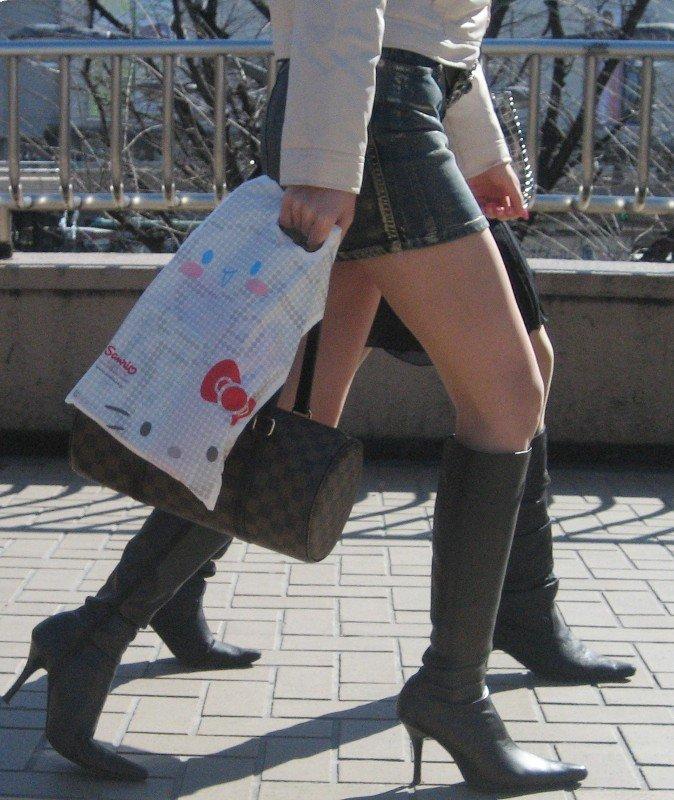 三次元 3次元 エロ画像 街撮り ブーツ 素人 美脚 街角 べっぴん娘通信 25