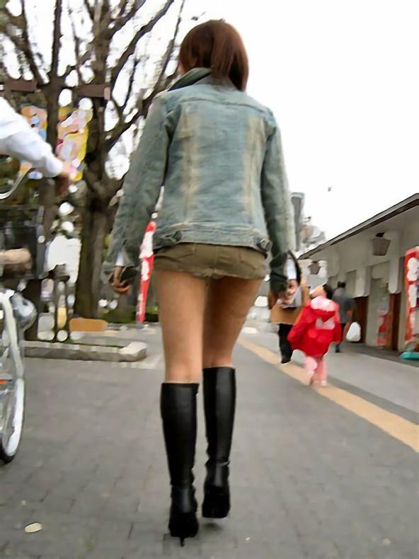 三次元 3次元 エロ画像 街撮り ブーツ 素人 美脚 街角 べっぴん娘通信 32