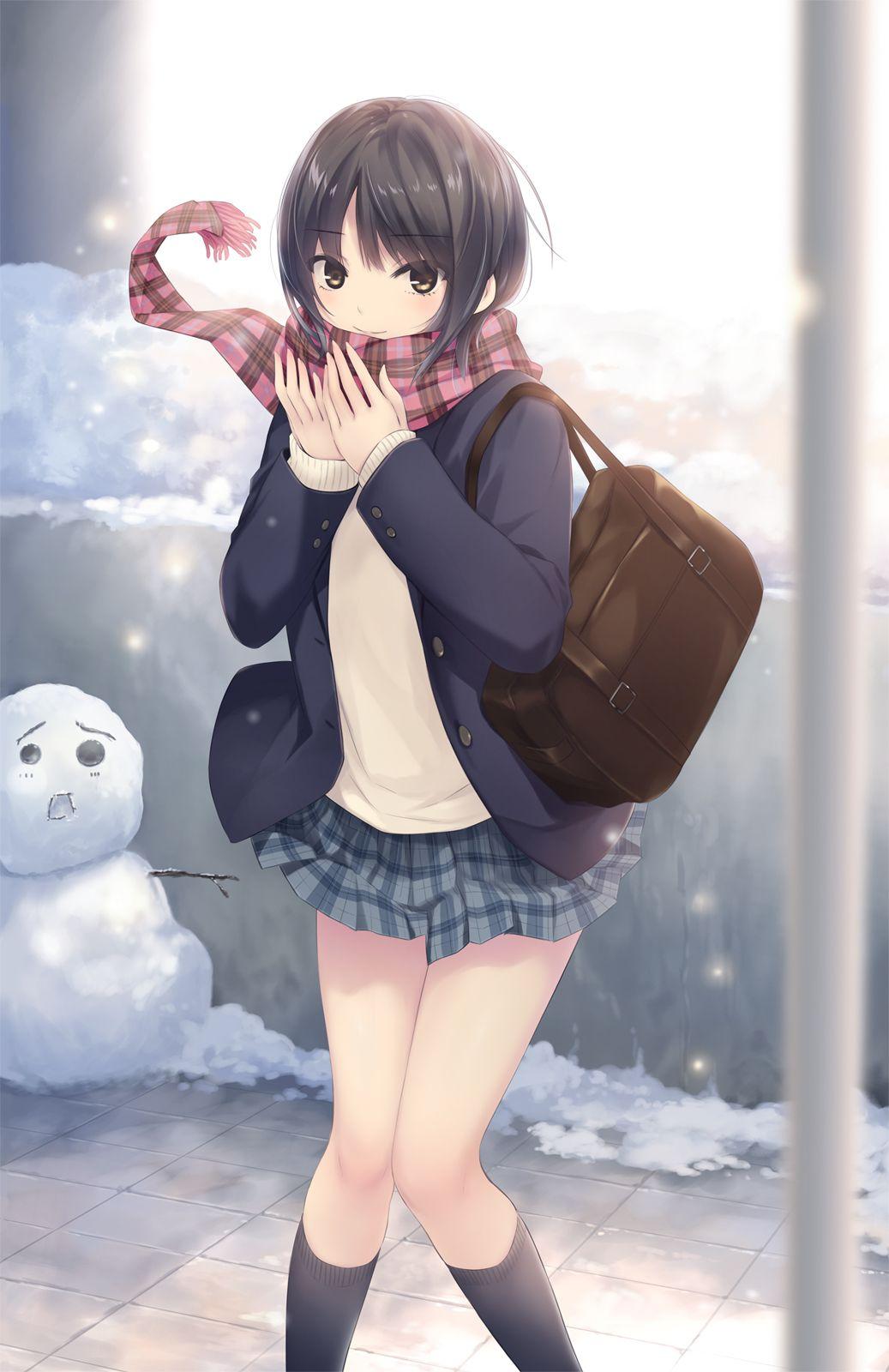 二次元 2次元 エロ画像 雪景色 べっぴん娘通信 06