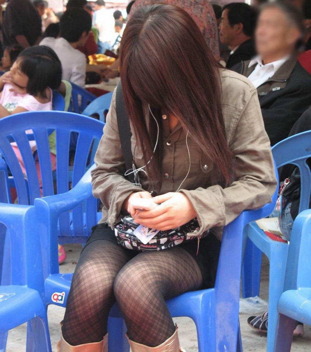 三次元 3次元 エロ画像 美脚 素人 街撮り 街角 べっぴん娘通信 03