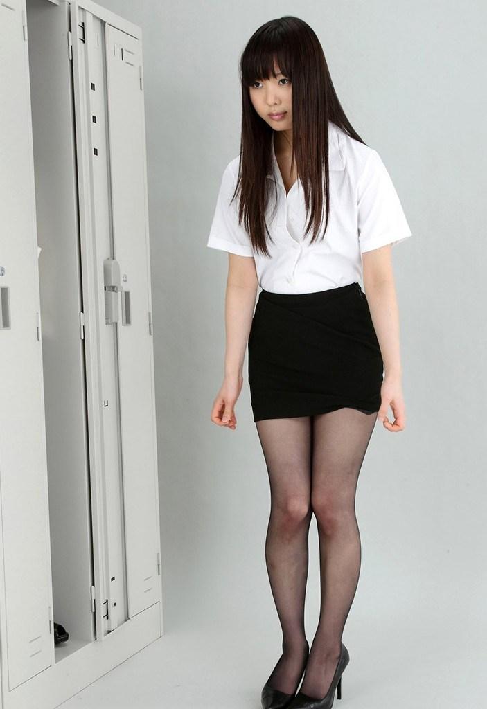 三次元 3次元 エロ画像 OL 黒パンスト ストッキング べっぴん娘通信 09