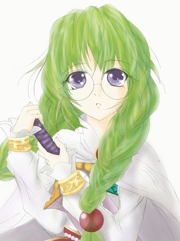 二次元 2次元 エロ画像 緑髪 べっぴん娘通信 012