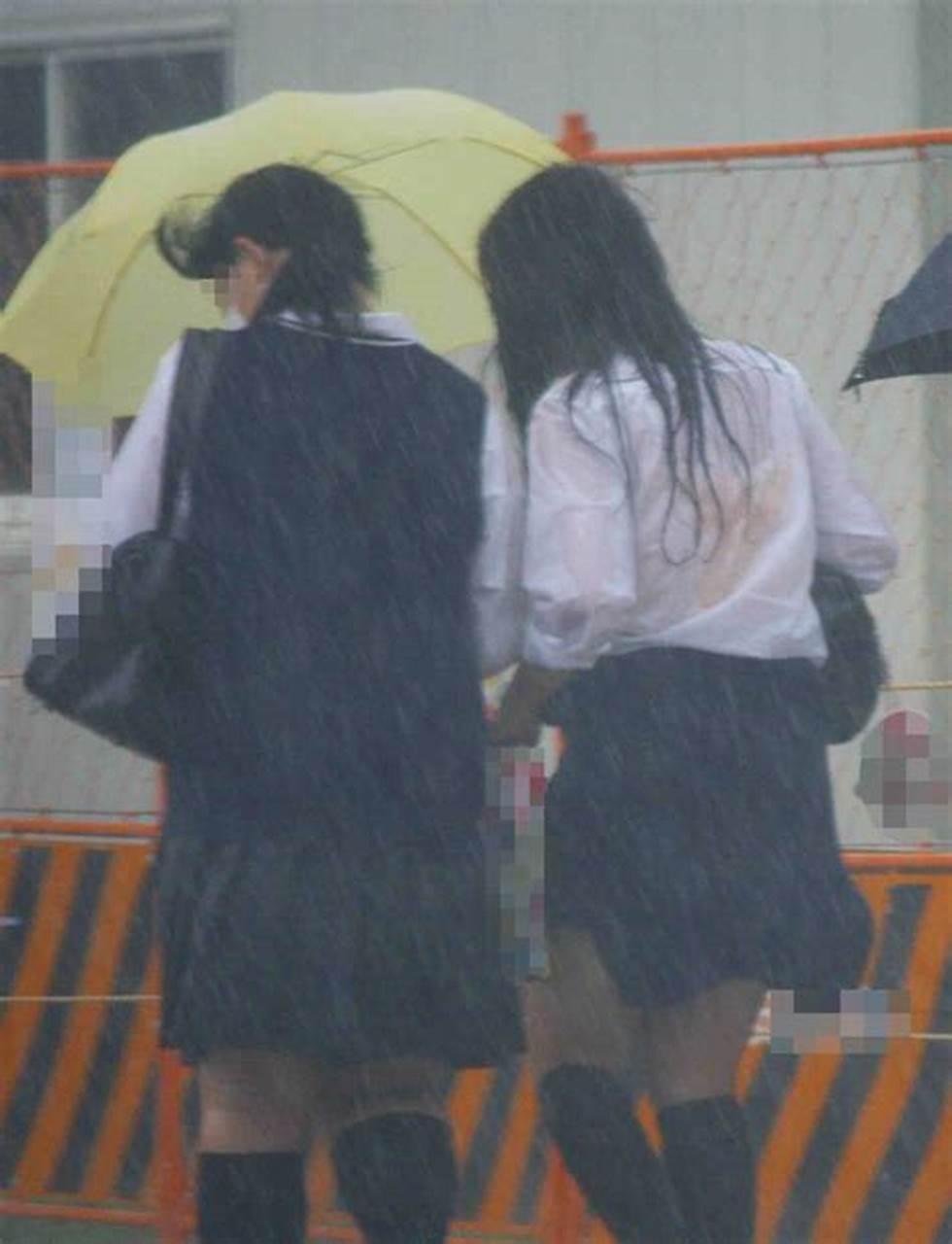 三次元 3次元 エロ画像 ずぶ濡れ 透け透け 女子校生 JK べっぴん娘通信 028